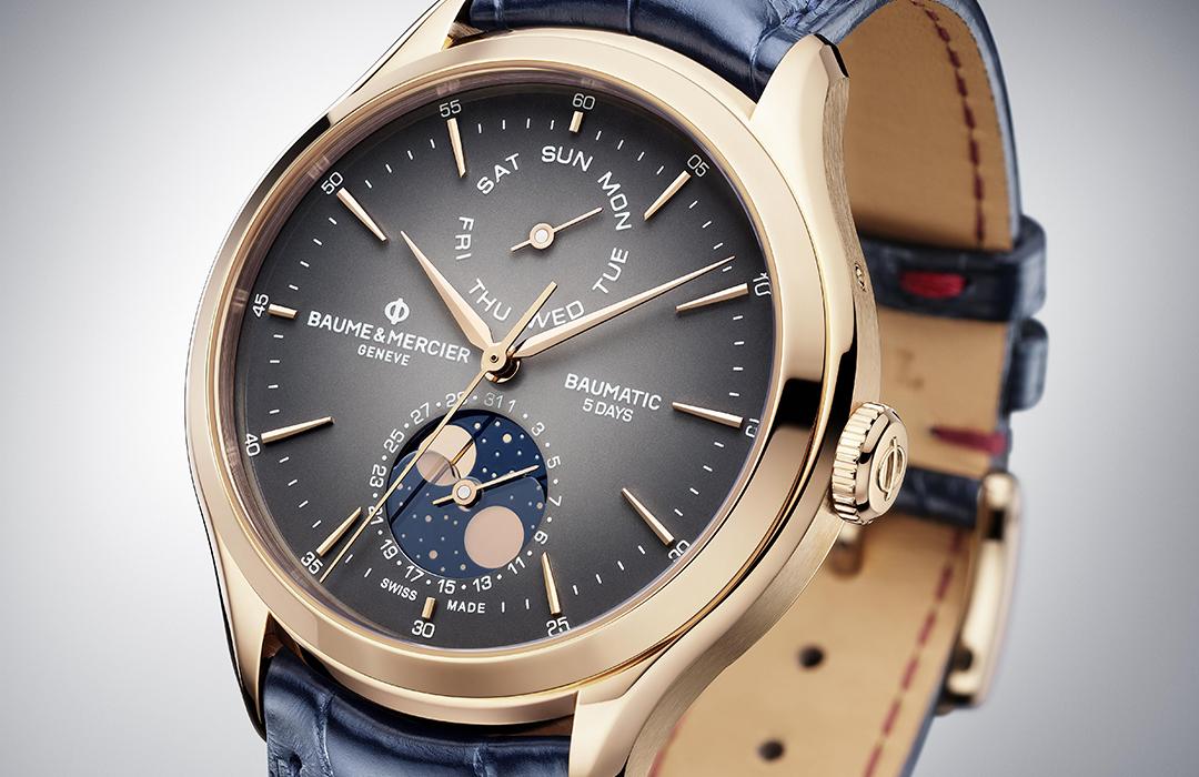 Oro rosa y fases lunares para el nuevo Clifton Baumatic