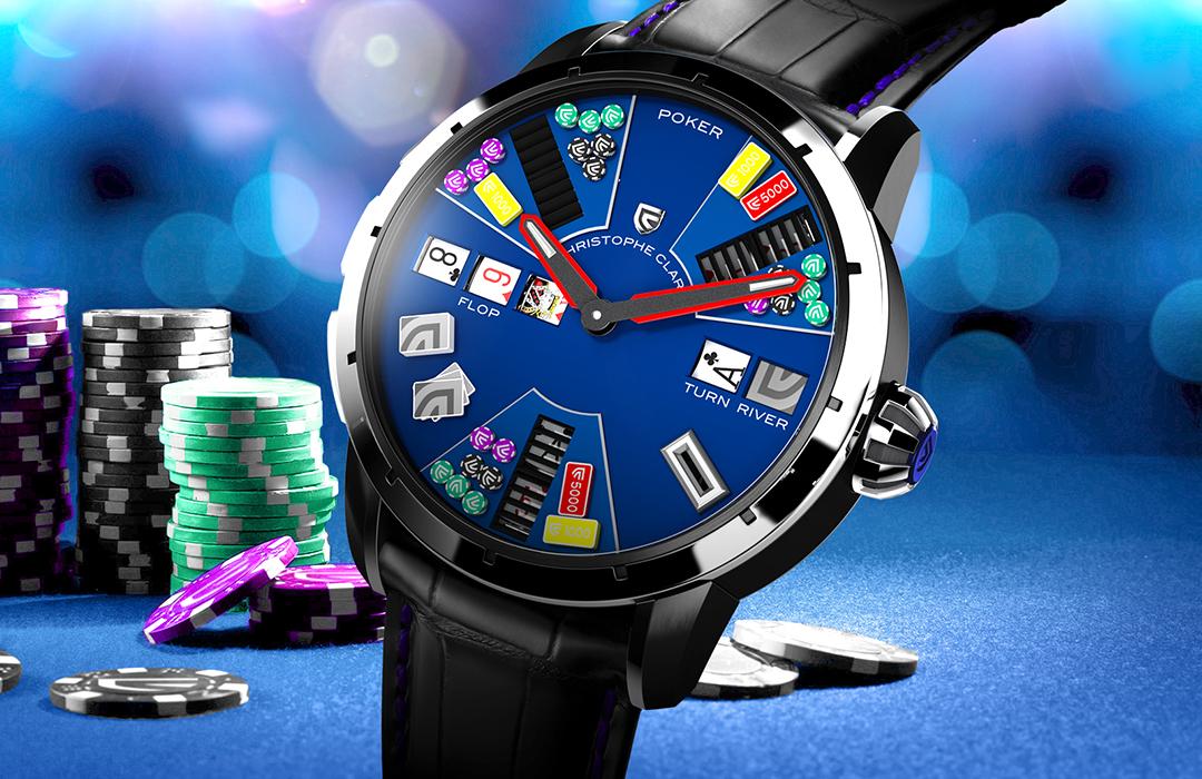 El juego de póker de Christophe Claret, ahora en color azul