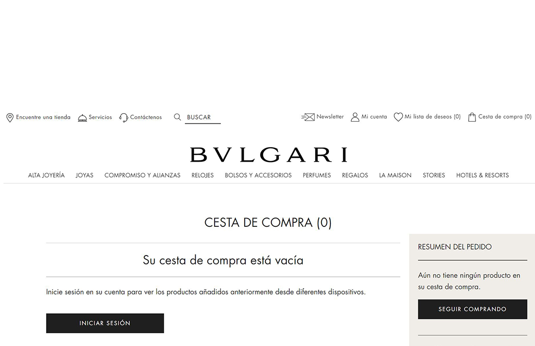Bvlgari lanza e-commerce en México