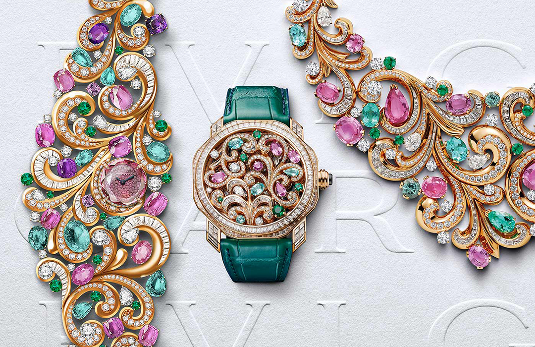 Bulgari presenta tres relojes inspirados en la colección de joyería Barocko