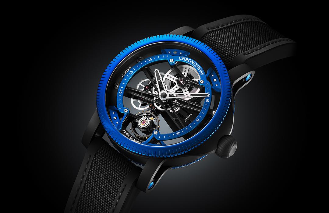 El Chronoswiss SkelTec se viste de azul